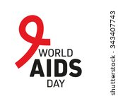 world aids day concept with... | Shutterstock .eps vector #343407743