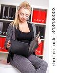 beautiful modern businesswoman... | Shutterstock . vector #343430003