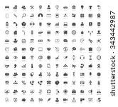 communication icons set | Shutterstock .eps vector #343442987