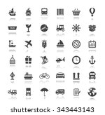 collection shipping ... | Shutterstock .eps vector #343443143