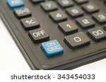 black button of the device for... | Shutterstock . vector #343454033