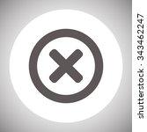 delete icon. cross sign in...   Shutterstock .eps vector #343462247