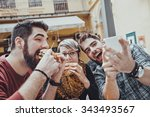 Hipster Friends In Fast Food...