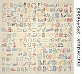 big set of icons for different... | Shutterstock .eps vector #343496363