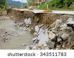 Part Of Road Landslide Erosion...