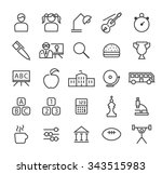 set of quality isolated... | Shutterstock .eps vector #343515983