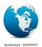 canada  north america  siberia... | Shutterstock . vector #343529477