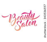 logo beauty salon lettering.... | Shutterstock .eps vector #343536557