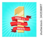 winner label. ribbon banner.... | Shutterstock .eps vector #343538897