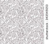 word love seamless pattern | Shutterstock .eps vector #343545053
