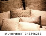 many pillows on the bed | Shutterstock . vector #343546253