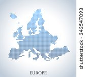 map of europe | Shutterstock .eps vector #343547093
