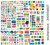 mega set of infographics flat... | Shutterstock .eps vector #343556837