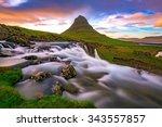 kirkjufell  iceland | Shutterstock . vector #343557857