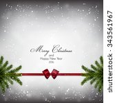 christmas background with fir... | Shutterstock .eps vector #343561967