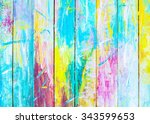 Small photo of colorful wooden painted background, Christmas background