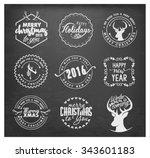christmas design elements ...   Shutterstock .eps vector #343601183