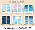 various weather or season set... | Shutterstock .eps vector #343601237