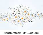 a modern  technical background... | Shutterstock .eps vector #343605203