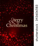 merry christmas lettering on a... | Shutterstock .eps vector #343606583