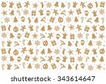 christmas pattern decoration... | Shutterstock .eps vector #343614647