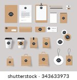 corporate branding identity... | Shutterstock .eps vector #343633973