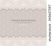 vintage floral background ... | Shutterstock .eps vector #343637597