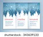 christmas leaflet design... | Shutterstock .eps vector #343639133