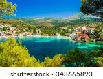 assos on the island of... | Shutterstock . vector #343665893