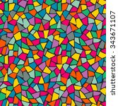 seamless color mosaic pattern | Shutterstock .eps vector #343671107