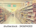 supermarkets  lens blur effect. ... | Shutterstock . vector #343694303