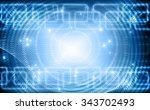 abstract blue background.... | Shutterstock . vector #343702493