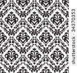 vintage wallpaper   Shutterstock .eps vector #34370353