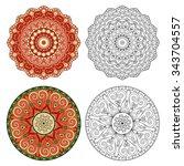 set of abstract design elements....   Shutterstock .eps vector #343704557