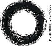 vector grunge circle . grunge... | Shutterstock .eps vector #343707233