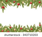 christmas tree borders with red ...