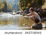Relax On Mountain River....