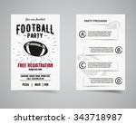 american football party back... | Shutterstock .eps vector #343718987