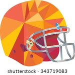low polygon style illustration... | Shutterstock .eps vector #343719083