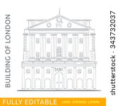 the bank of england. sketch... | Shutterstock .eps vector #343732037