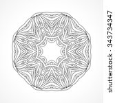 mandala. ethnic decorative... | Shutterstock . vector #343734347