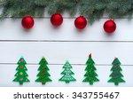 beautiful celebratory christmas ... | Shutterstock . vector #343755467