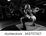 a strong fit woman exercising... | Shutterstock . vector #343757327