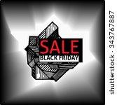 polygon vector banner   black... | Shutterstock .eps vector #343767887