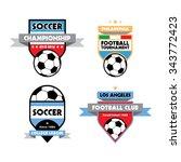 football or soccer logo... | Shutterstock .eps vector #343772423