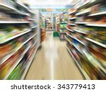 convenience store shelves with... | Shutterstock . vector #343779413