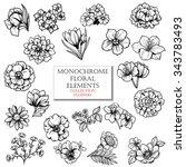 flower set | Shutterstock . vector #343783493