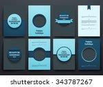 set of brochure  poster... | Shutterstock .eps vector #343787267