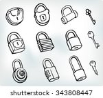 Sketch Padlock Set Variation O...
