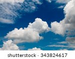 bright blue sky with fluffy... | Shutterstock . vector #343824617